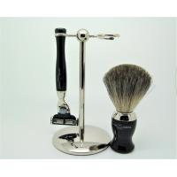 Edwin Jagger:  3 Piece Ebony Shaving Set